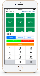 Sportsbook software for iPhone - add funds to account